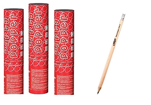 3 tubi spara coriandoli cuori rossi 20 cm 1188