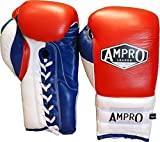Ampro Mirage V2 - guantes de boxeo profesional lobulado rojo/blanco/azul...