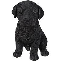 Vivid Arts - Figura decorativa de perro labrador, color negro