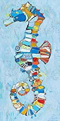 Oopsy Daisy Canvas Wall Art See Saw by Jennifer Mercede 12 by 24-Inch