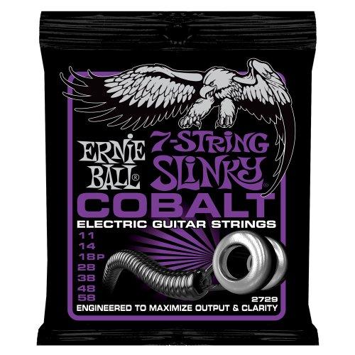 Ernie Ball Cobalt 7-saitige Power Slinky Set.011-.058