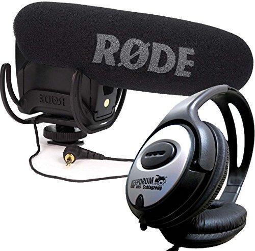 Rode VideoMic Pro RYCOTE Camcorder Kamera Mikrofon + Keepdrum Kopfhörer