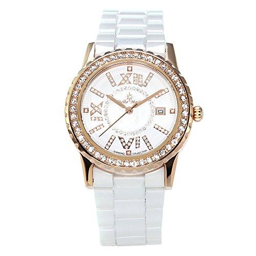 Stella Maris STM15E8 - Montre Femme Cadran blanc Quartz Analogique Bracelet Céramique blanc avec diamants et éléments Swarovski