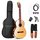 Guitare Classique, Guitare Acoustique électrique Nature 36 Pouces 3/4 Professionnelle Guitares à Cordes de Nylon pour Débutants, par Vangoa