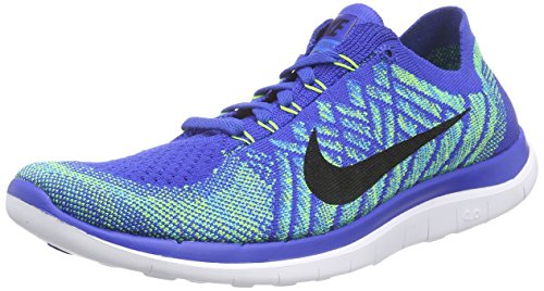 Nike Free 4.0 Flyknit, Chaussures de Running Entrainement Homme Bleu (game Royal/black/photo Blue/hyper Jade)