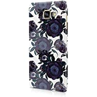 Flower Night Blue Rose Blossom Pattern Durable Hard Plastic Snap-On Plastic Phone Case Cover For Samsung Galaxy A5 (2016)