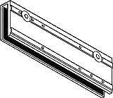 Klemmplatte für TS 3000 V silber für Ganzglastüren