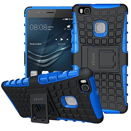 ykooe Huawei P9 Lite Hülle, (TPU Series) Huawei P9 Lite Dual Layer Hybrid Handyhülle Drop Resistance Handys Schutz Hülle mit Ständer für Huawei P9 Lite