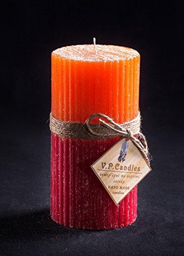 Hecho a mano vela de parafina multicolor Handcrafted Home Interior accesorios