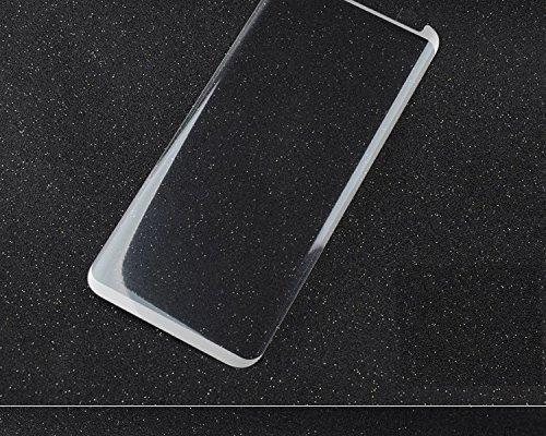 InShang 3D Protezione dello schermo (minimizzato) per Samsung Galaxy S8, [Vetro temperato] [sensibilità touch screen originale] [Caso non completo] 9H + durezza, Screen Protector white