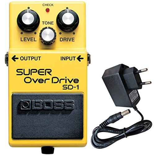 Boss SD-1 Super Overdrive Pedal + keepdrum 9V Netzteil