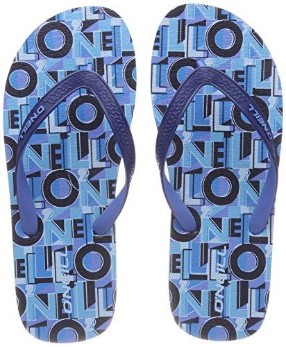 O'Neill Jungen Fb Profile Pattern Flip Flops Zehentrenner, Blau (5900 Blue AOP), 37 EU