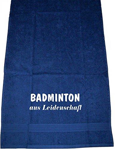 Badminton aus Leidenschaft; Handtuch Sport, dunkelblau