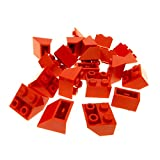 20 x Lego System Dachstein rot 45° 2 x 2 negativ Dachziegel schräg Stein 3660