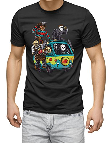 Mystery Machine Retro Horror Characters T-shirt for Men