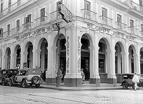 Vintage Images – 1930s Outside Facade Of Sloppy Joe'S Bar Said To Be Origin Of Sloppy Joe Sandwich Old Havana Cuba Fine Art Print (45.72 x 60.96
