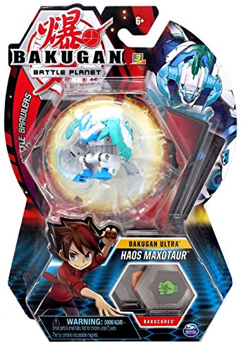 BAKUGAN Ultra, Haos Maxotaur, 3-inch Tall Collectible Transforming Creature, for Ages 6 and Up