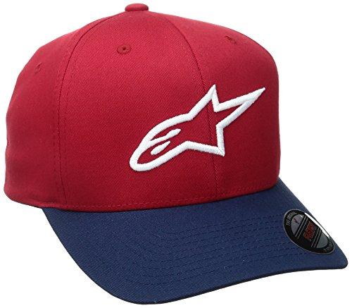 Alpinestars Herren Ageless Curve Men's Logo Flexfit Hat Curved Bill Flex Back Cap, Rot, L/XL