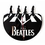 Zantec Stilvolle kreative Retro CD Vinyl Record Alben Film Wanduhr mit Beatles Pattern Dekoration Geschenk
