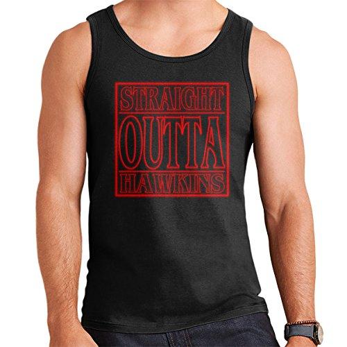 Straight Outta Hawkins Stranger Things Men's Vest Black