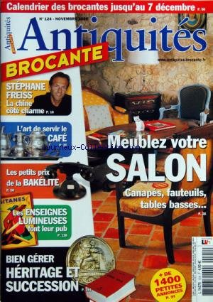 ANTIQUITES BROCANTE [No 124] du 01/11/2008