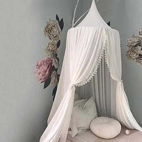 Golden.Y Moskitonetz Babybett, Mückennetz Kinderzimmer Dome Fantasy Round Netting Vorhänge mit runder Spitze, Bett Baldachin für Mädchen/Jungen/Babyspiele Zimmer (Baldachin Vorhänge)