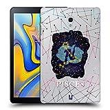 Head Case Designs Fische Sternbild Der Sternzeichen Ruckseite Hülle für Samsung Galaxy Tab A 10.5 (2018)