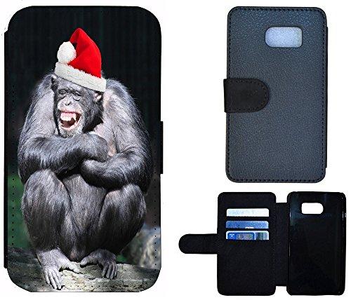 Flip Cover Schutz Hülle Handy Tasche Etui Case für (Apple iPhone 4 / 4s, 1163 Abstract Hell Blau Grau) 1162 Affe Grau Schwarz Rot