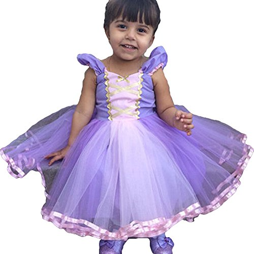 Kids Big Girls Bridesmaid Tulle Cartoon Lace Dress School Girls Elegant Communion Ball Gown Dance Pageant Birthday Christmas Party Prom Evening Wedding Flower Princess Dresses