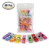 ATPWONZ 60pcs Clips de costura - Craft Clips Milagro Multicolor Abrazadera Plástico Perfecto para...