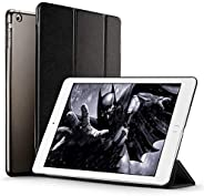 Apple iPad 9.7 2018/2017 Case, Lightweight Smart Case Trifold Stand with Auto Sleep/Wake Function, Microfiber