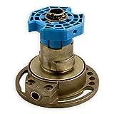 DIWARO® Kegelradgetriebe K035   Untersetzung 4:1 links   Antrieb 6mm Innenvierkant (durchsteckbar)   für SW 60 achtkant Stahlwelle   Kurbelgetriebe, Rolladengetriebe