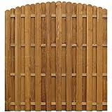 Festnight- Holz Sichtschutzzaun 170 x (156-170) cm Braun | Gartenzaun Windschutz Zaunpaneel Zaun aus Impr?gniertes Kiefernholz Bogendesign