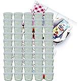 50er Set Sturzglas 230 ml Marmeladenglas Einmachglas Einweckglas To 82 weißer Deckel incl. Diamant-Zucker Gelierzauber Rezeptheft