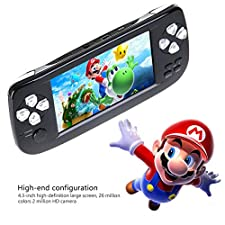 """AOLVO Handheld Game Console, Retro Game Console 4.3"""" 16 GB 3000 Classic Games Player, Portable Video Game Console Support GBA/NES/SFC/SEGA/NEOGEO/CP1/CP2 And More Good Presents for Children"""