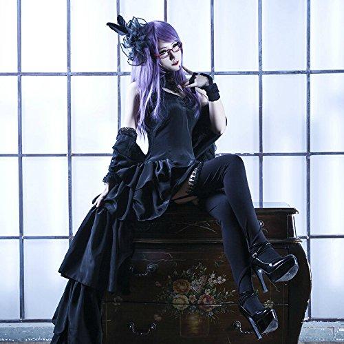 Preisvergleich Produktbild Vivian Anime Tokyo Ghoul Kamishiro Rize Schwarzes Kleid Cosplay Kostüm (kann angepasst werden,Größe L:(165-170 CM)