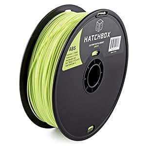 HATCHBOX 1,75 mm grünes 365 C ABS-Filament für 3D-Drucker - 1 kg-Spule - Maßgenauigkeit +/- 0,05 mm
