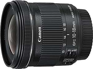 Canon Obiettivo Ultragrandangolare con Zoom, EF-S 10-18 mm f/4.5-5.6 IS STM, Nero/Antracite