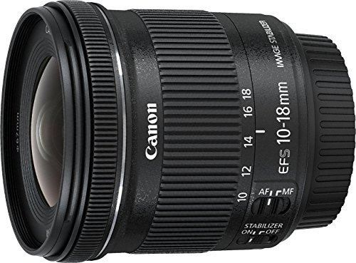 Canon Obiettivo Ultragrandangolare con Zoom, EF-S 10-18 mm f/4.5-5.6 IS STM, Nero/Antracite