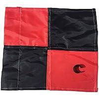 Bandera para 25mm esquina Post con clip, Red / Black Chequered