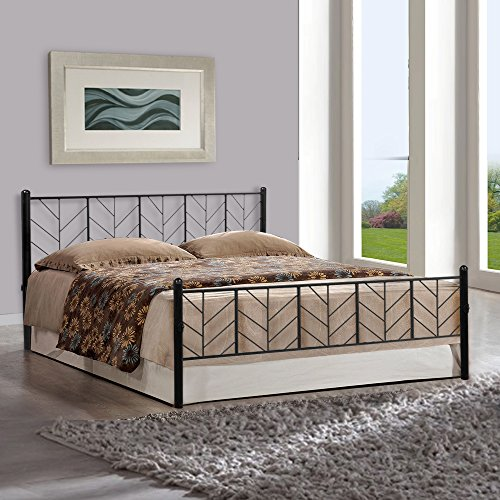 FurnitureKraft FKDB3083 Queen Size Bed (Glossy Finish, Black)