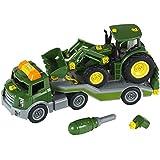 John Deere - Camión transportador con tractor (Theo Klein 3908)