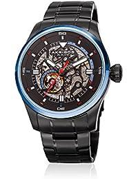 Akribos XXIV Men's Quartz Stainless Steel Casual Watch, Color Black (Model: AK970BKBU)