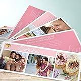 Hochzeitseinladungen Originell, Hochzeitscollage 200 Karten, Kartenfächer 210x80 inkl. weißer Umschläge, Rot