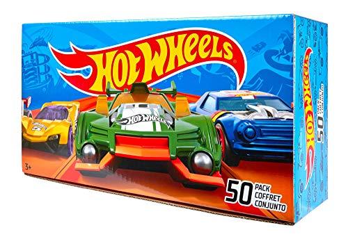 Hot Wheels V6697 50er Pack 1:64 Die-Cast Fahrzeuge extra großes Geschenkset, je 50 Spielzeugautos, zufällige Auswahl, ab 3 Jahren - Die Fahrzeuge Cast
