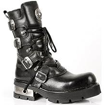 New Rock Boots - Mujer Botas Estilo 373 S3 Negro 54a81f60798b