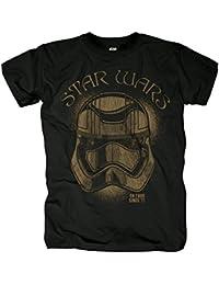 Star Wars - T-shirt La Guerre des Etoiles 7 Le Réveil de la Force flambant neuf motif On Tour Since 77 noir