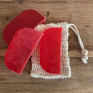 Festes Shampoo 3x90g Ylang und Orange mit 1 Sisalsäckchen (10cm x 19cm)