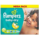 Pampers Baby Dry Lot de 74 Couches Taille 5 Mega x 2 Total 148 couches