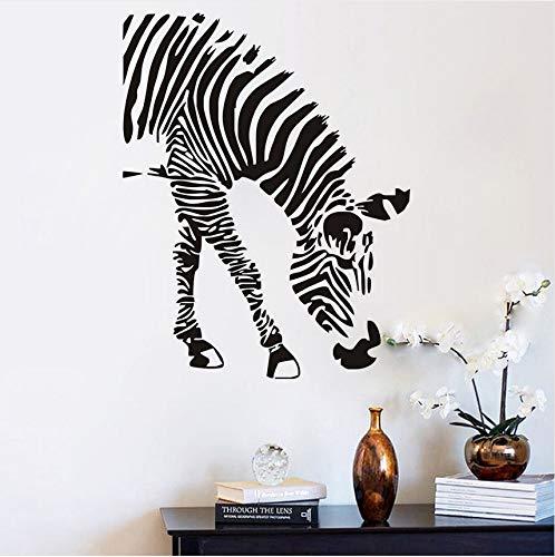 Zebra Essen Wandaufkleber Für Baby Kinderzimmer Dschungel Safari Wild Animal Vinyl Wandtattoos Kunst Design Removable Home Maison 46x59 cm